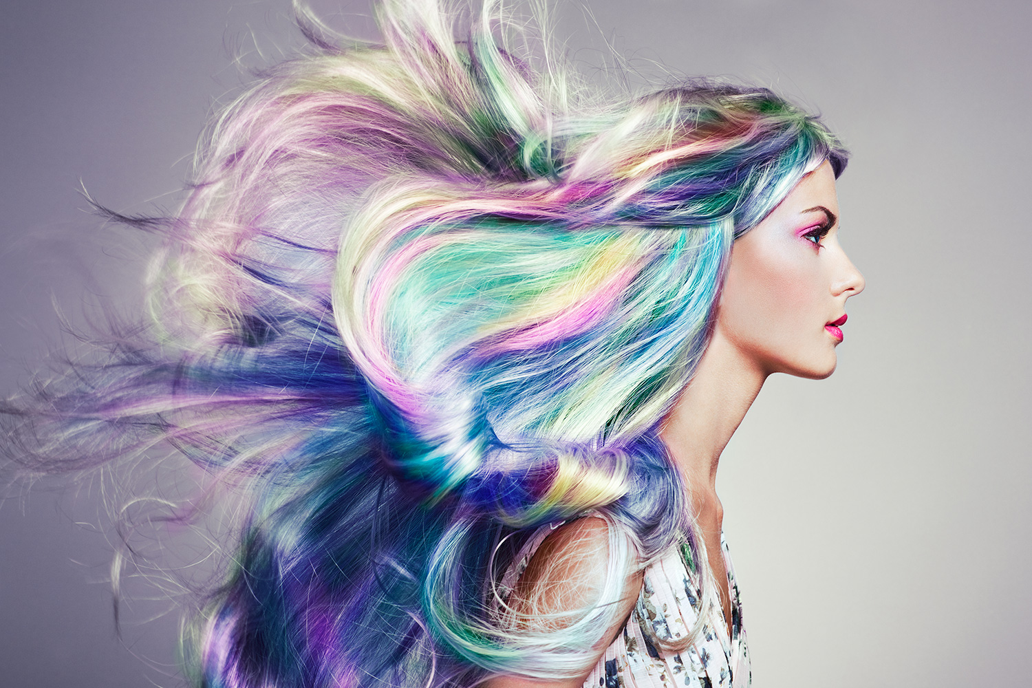 peacock rainbow color hair extensions for sale