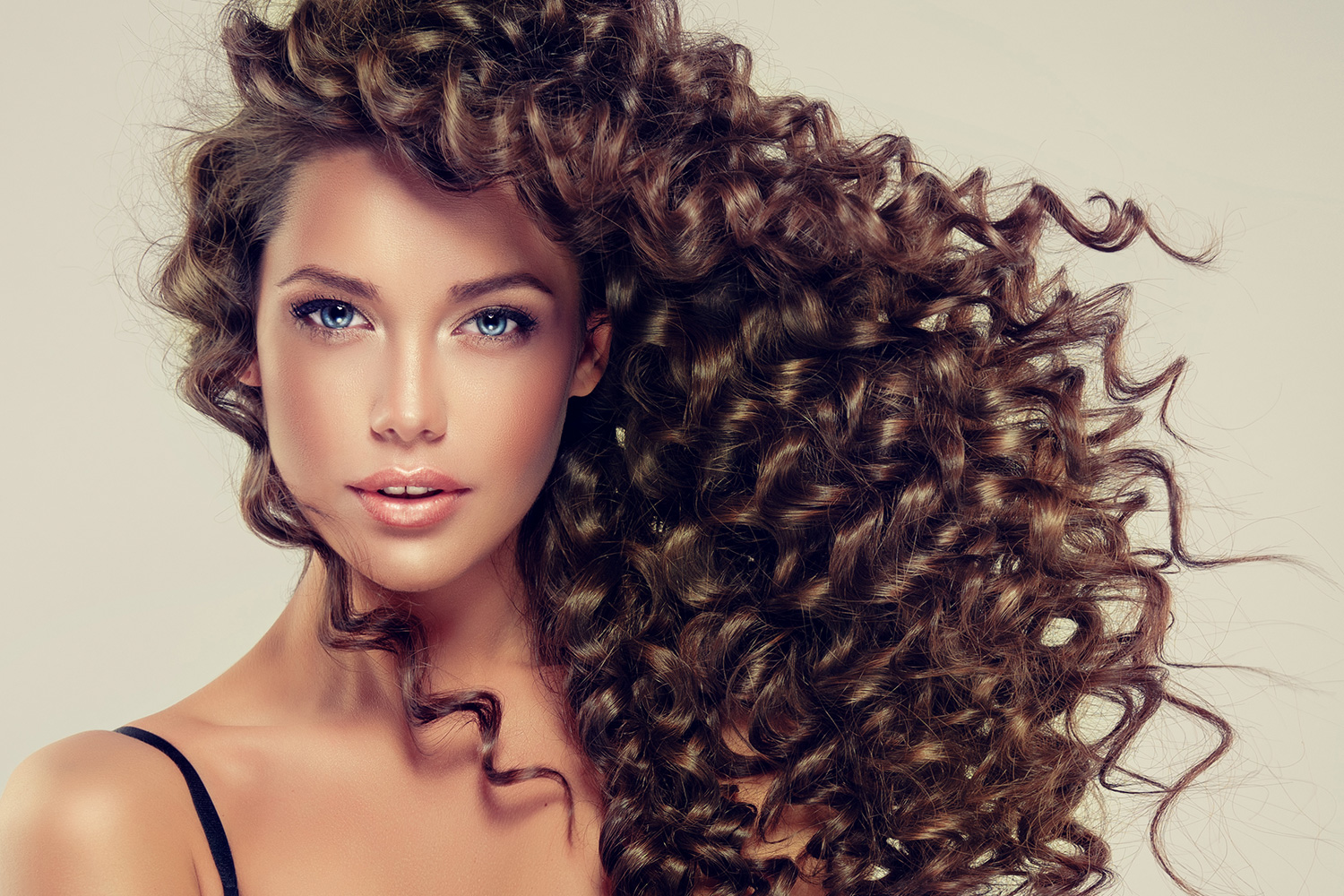 corkscrew curl brown hair extensions
