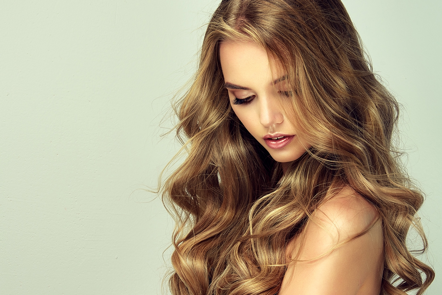 wavy dark blonde light brown natural remy hair extensions