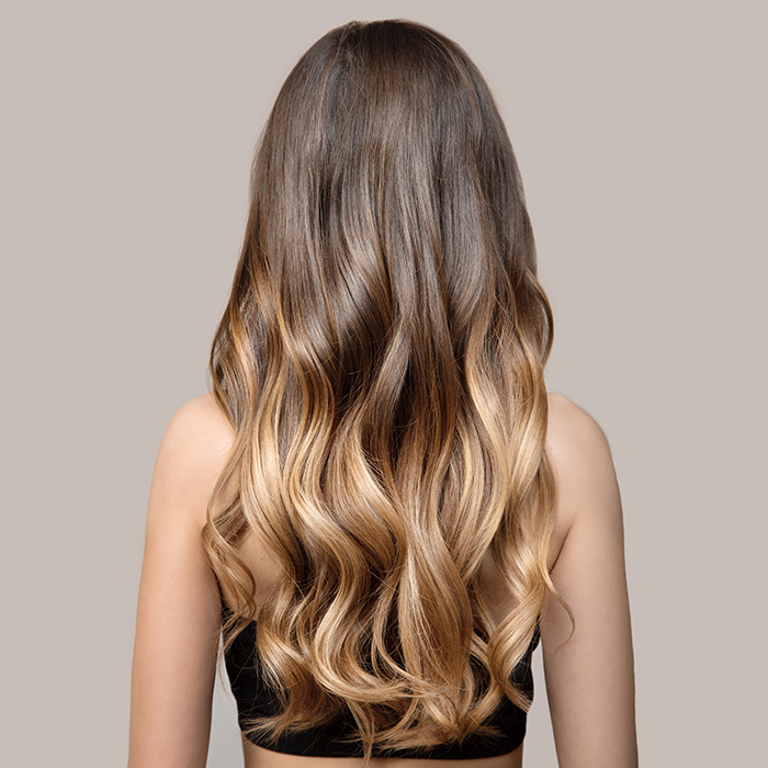 ombre balayage hair extensions brown to blonde